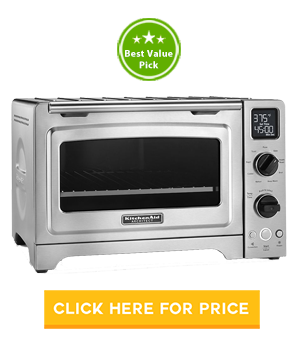 #3 Pick: KitchenAid KCO273SS 12u2033 Convection Bake Digital Countertop Oven  (Value For Money) ...