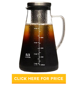 Ovalware RJ3 Cold Brew Coffee Maker & Tea Infuser