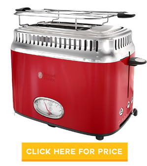 Russell Hobbs 2-Slice Retro Style Toaster, TR9150RDR