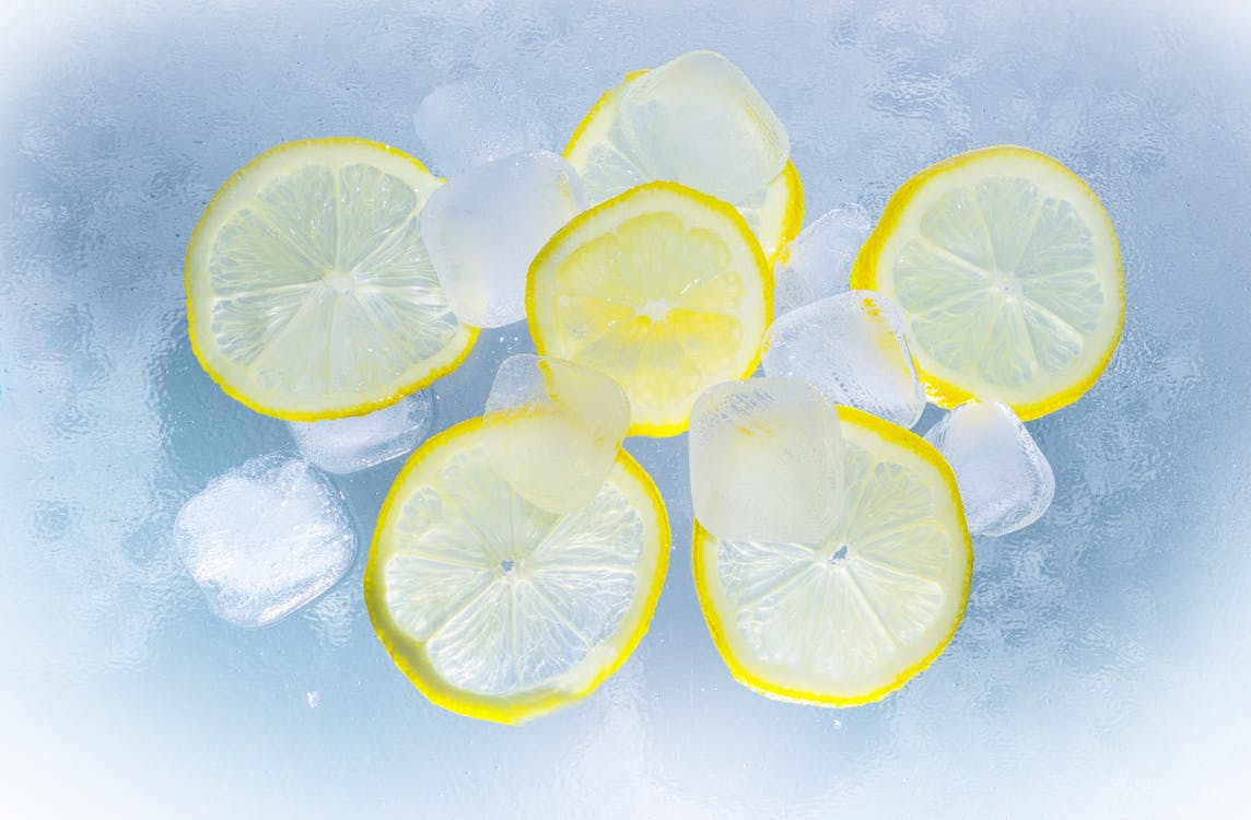 lemon and ice for cleaning