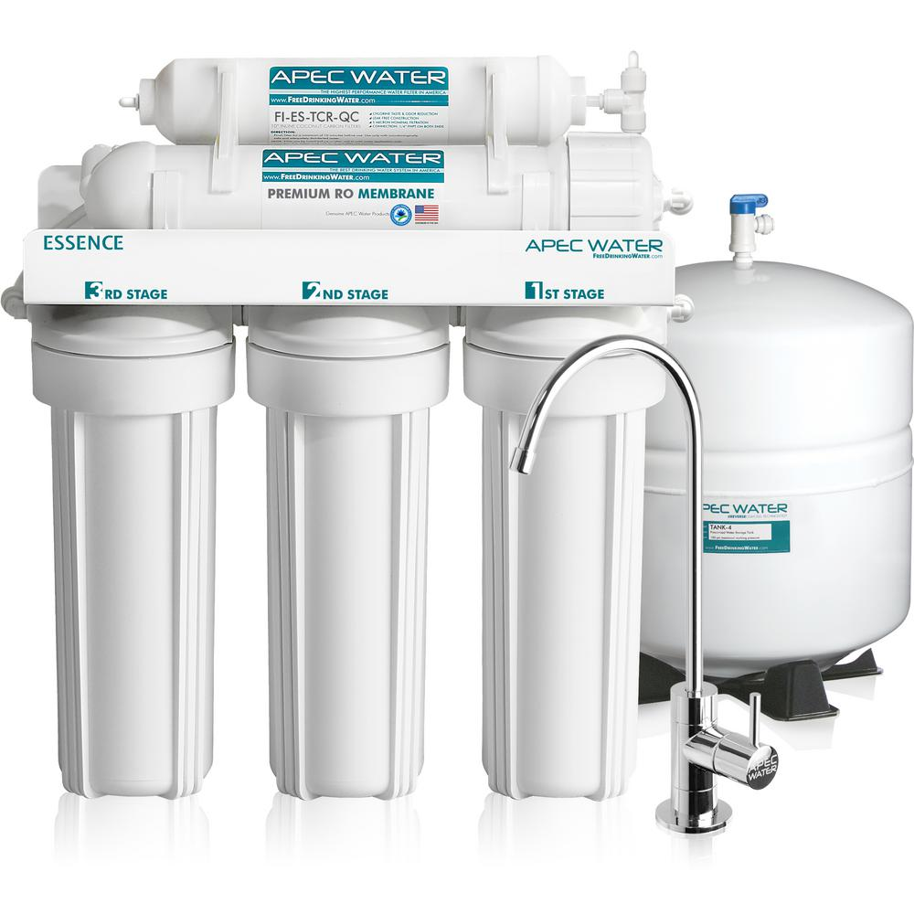 Conventional under sinkw ater filter
