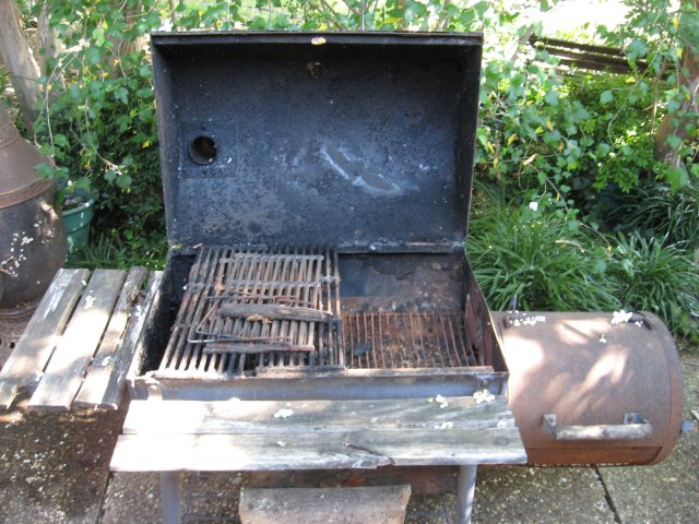 Rusted Grill and Smoker