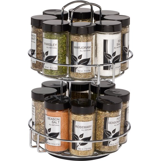 pre-filled spice rack