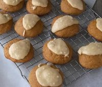 Brown Sugar Drops with Browned Butter Frosting
