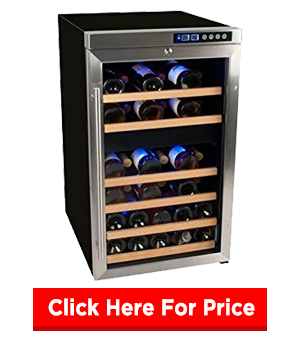 EdgeStar CWF340DZ 34 Bottle Dual Zone Wine Cooler