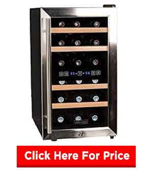Koldfront TWR187ESS 18 Bottle Dual Zone Wine Cooler