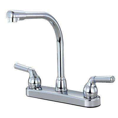 Example of a Double-Hole Kitchen Faucet