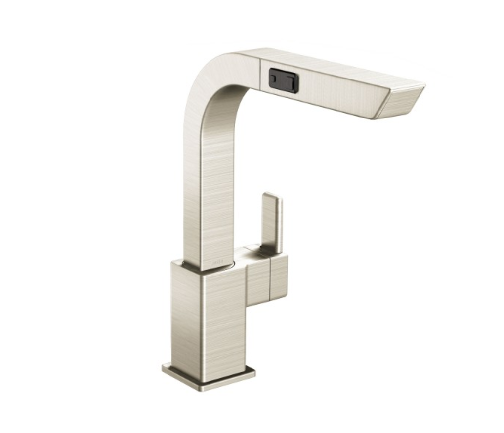 Moen S7597CSL 90-Degree One-Handle High Arc Pullout Kitchen Faucet Image